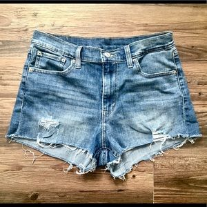 Levi's midrise medium wash cutoffs